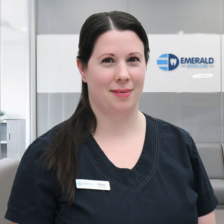 Dina is a level 2 Dental assistant who graduated with honors from George Brown College in 2002